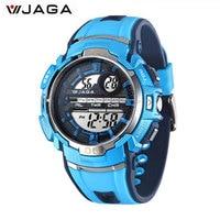 JAGA Kids Sports Watches Multifunction Electronic Wrist Watches Waterproof Diver Sports Children Watch Regarder M937