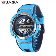JAGA Kids Sports Watches Multifunction Electronic Wrist Watches Waterproof Diver Sports Children Watch M937