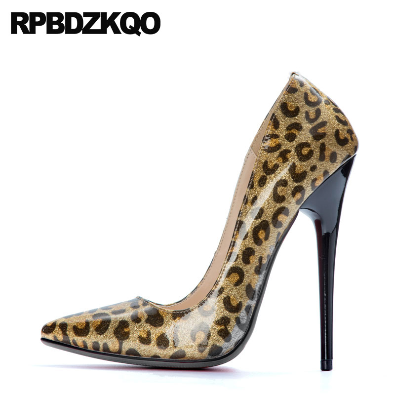 Stiletto 13 45 Crossdresser Glitter High Heels 14cm Leopard Print Pointed Toe 12 44 Us Size Ladies Shoes Pumps Women Fetish PlusStiletto 13 45 Crossdresser Glitter High Heels 14cm Leopard Print Pointed Toe 12 44 Us Size Ladies Shoes Pumps Women Fetish Plus