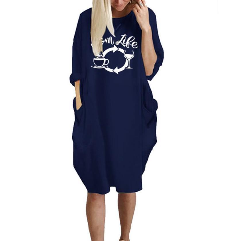 Fashion Pocket Mom Life Letters Print T-Shirt For Women Female Harajuku Cropped Off The Shoulder Tops Punk Japan