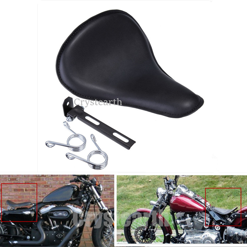 Motorcycle Solo Seat 12 & Mount A-Type Spring Bracket For Honda Yamaha Harley Sportster XL883 XL1200 Bobber Chopper Custom motorcycle phone holder zipper pocket handlebar bracket mount universal for harley honda kawasaki yamaha cruiser chopper bobber
