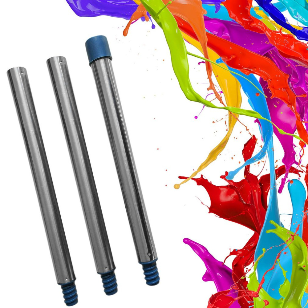 3 Sections Aluminium Tubes For Paint Roller Wall Painting Brush