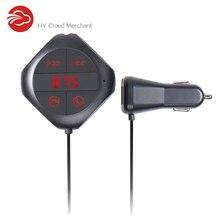 Bluetooth Hands-Free Car Kit Fm-передатчик Аудио Музыка MP3/WMA Плеер Дисплей Напряжения 5 В 2.5A Двойной USB Автомобильное Зарядное Устройство Q7S