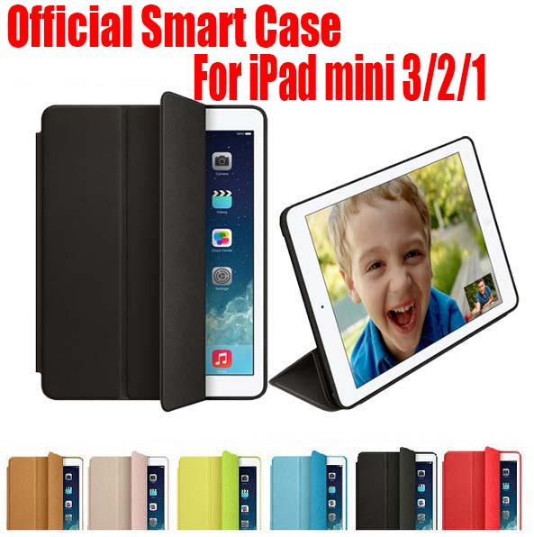 10PC/Lot EMS Free Newest Official Design Best Quality 7.9 inch Smart Case For Apple iPad mini 3 2 1 NO: IM01