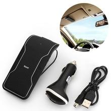 Беспроводной Bluetooth Car Kit Hands Free автомобиля Динамик телефон солнцезащитный козырек sunvisors клип автомобильный Зарядное устройство Bluetooth Динамик приемник с микрофоном