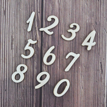 Happymems Wood Numbers 0-9 150pcs Embellishments Scrapbooking Household Wall Stickers Shape Wooden DIY Crafts Decoration