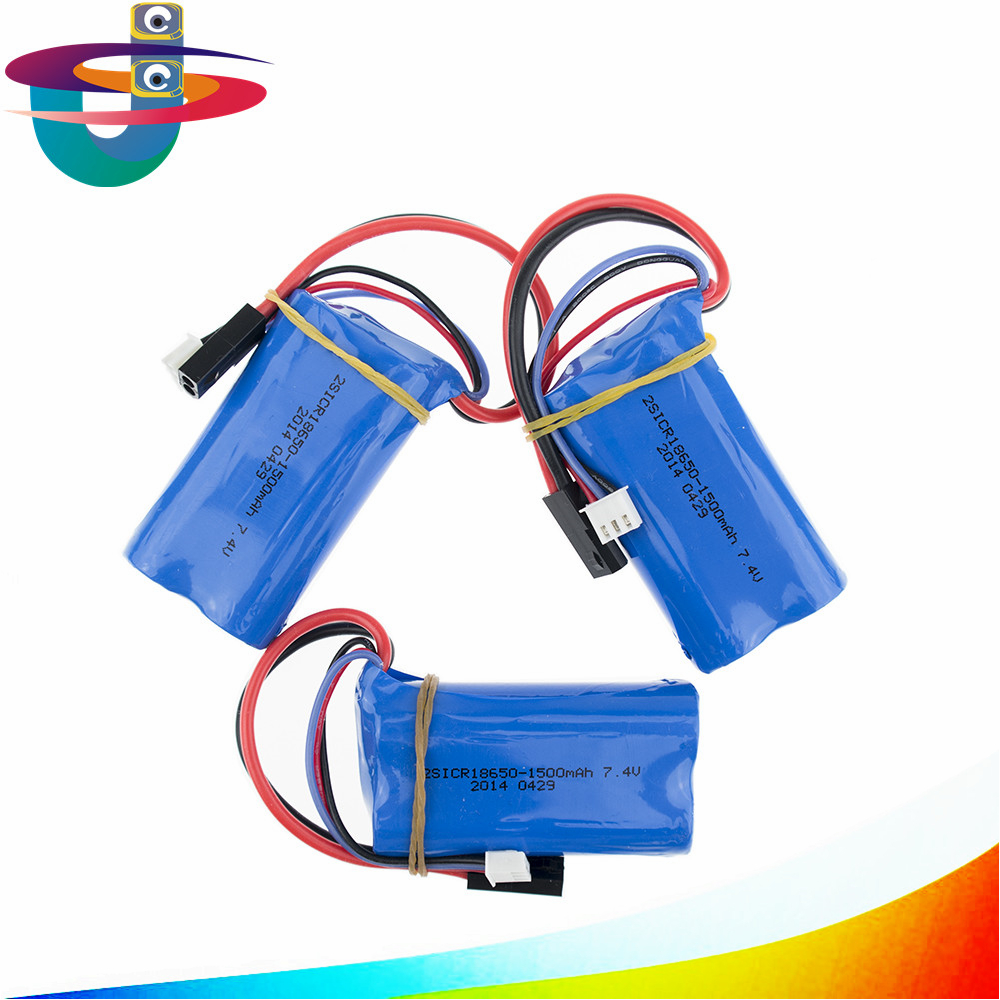 3pcs/lot 7.4V 1500mah 15c 18650 remote control helicopter power lithium battery 1500Mah rechargeable battery pack new helicopter parts 3pcs battery and 1 cable 3 for syma x8sw x8sc remote control helicopter aircraft lithium battery