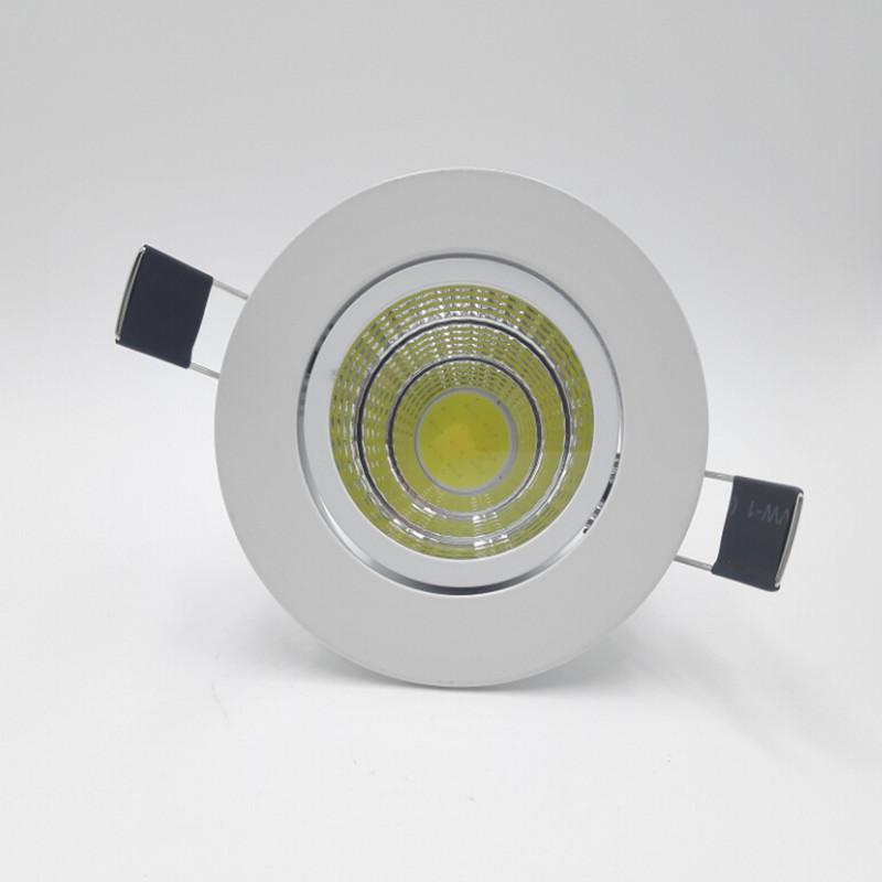 Free shipping Wholesale - High Power 10W COB LED Dimmable downlight led down light free