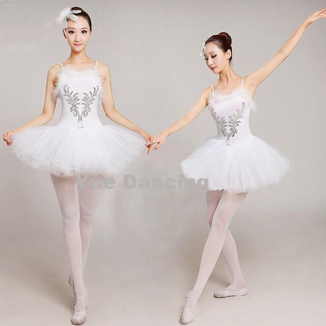 b37d5d6c1 € 12.8 21% de DESCUENTO Adultos blanco Swan Lake Ballet Vestido Mujer  bailarina tutú disfraz danza Ballet clásico leotardo actuación de escenario  ...