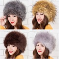 new arrival winter beanies elegant delicate faux fur multicolor faux fox fur hats for women warm fashion hats sexy cosplay hats