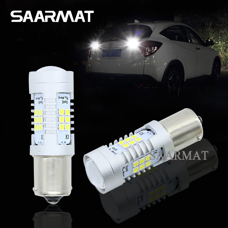 Pair <font><b>LED</b></font> Bulbs 1156 BA15S P21W Backup Reverse <font><b>Light</b></font> For <font><b>VW</b></font> Jetta GOLF MK2 MK3 MK4 MK5 MK6 mk7 touran polo TRANSPORTER T4 <font><b>T5</b></font> image