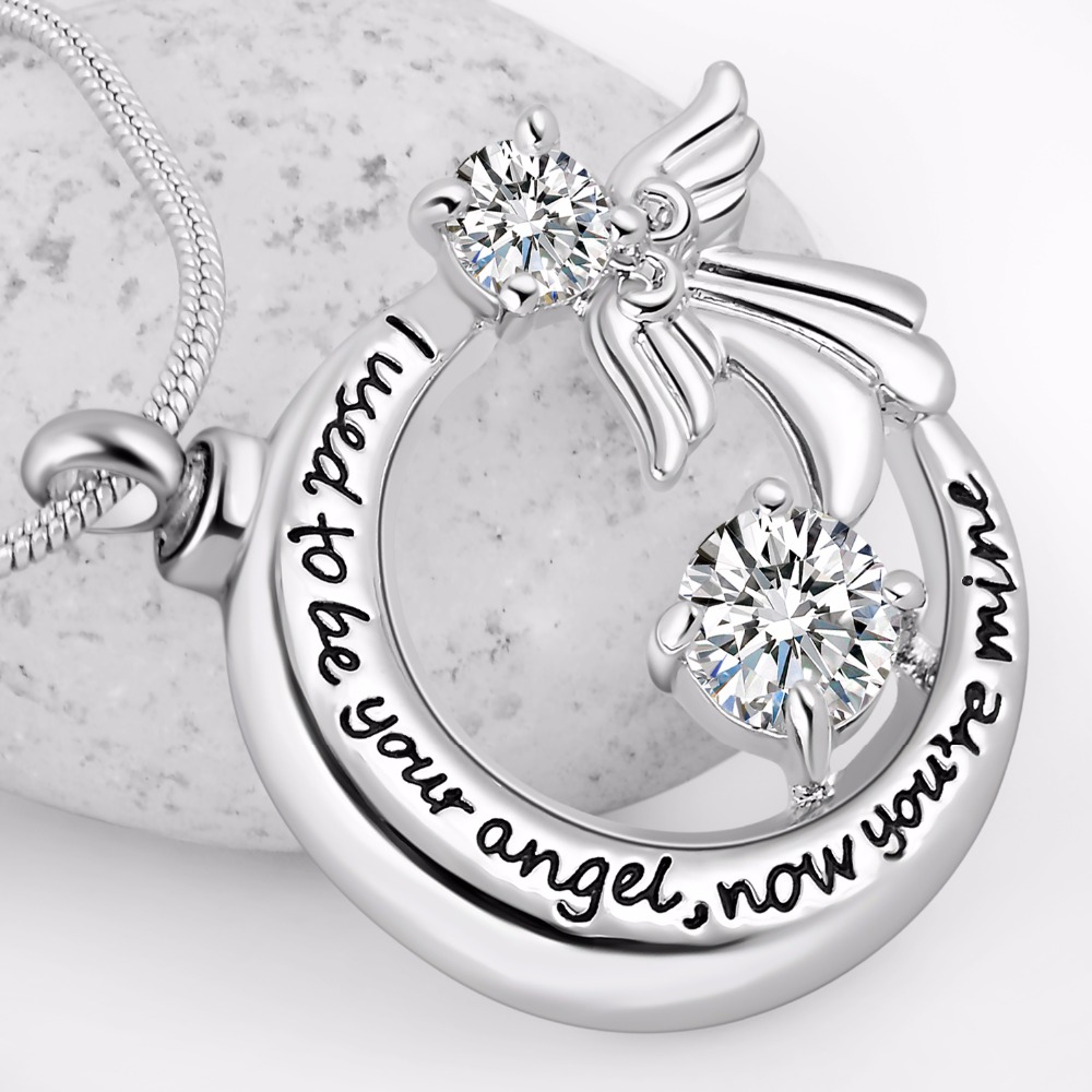 все цены на I used to be your angel now you're mine Locket Angel Wing cremation memorial ashes urn heart necklace jewelry keepsake pendant