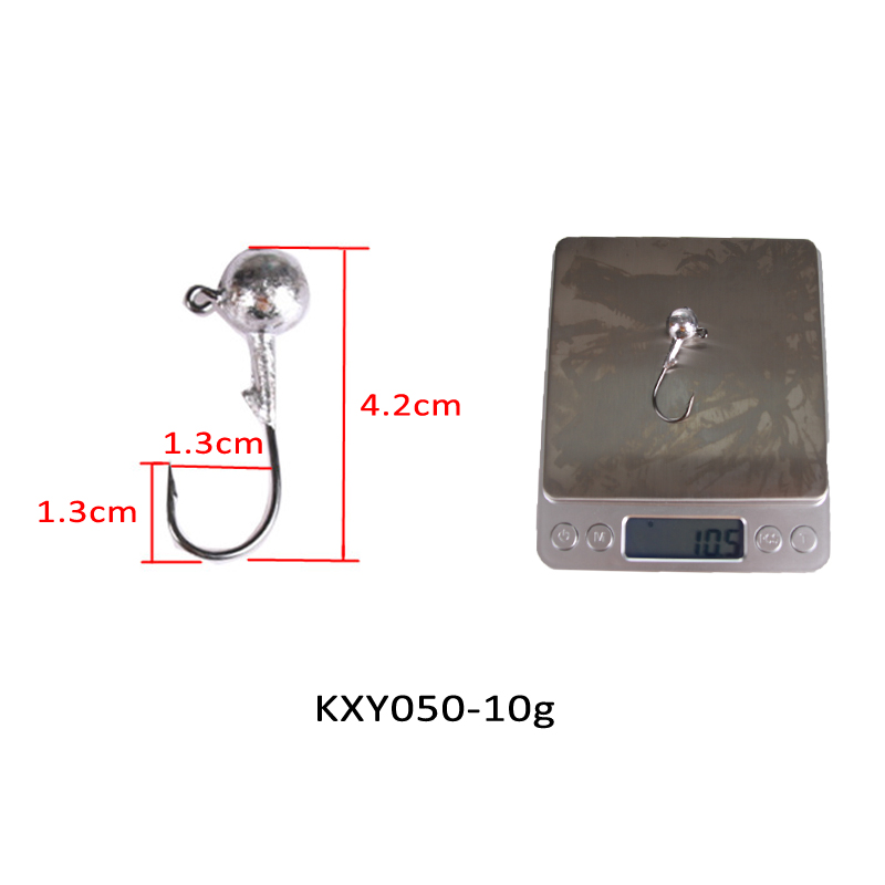 Image 4 - KASSYAA 20 50pcs Jig Head Hook 1g 2g 3.5g 5g 7g 10g 14g 20g Soft Worm Lead Fishing Hooks Jig Lure Fishing Tackle KXY050-in Fishhooks from Sports & Entertainment