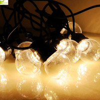 10/20 Led festoon globe bulb led string lights outdoor waterproof G50 ball garland party wedding Backyard Patio Fairy Lights