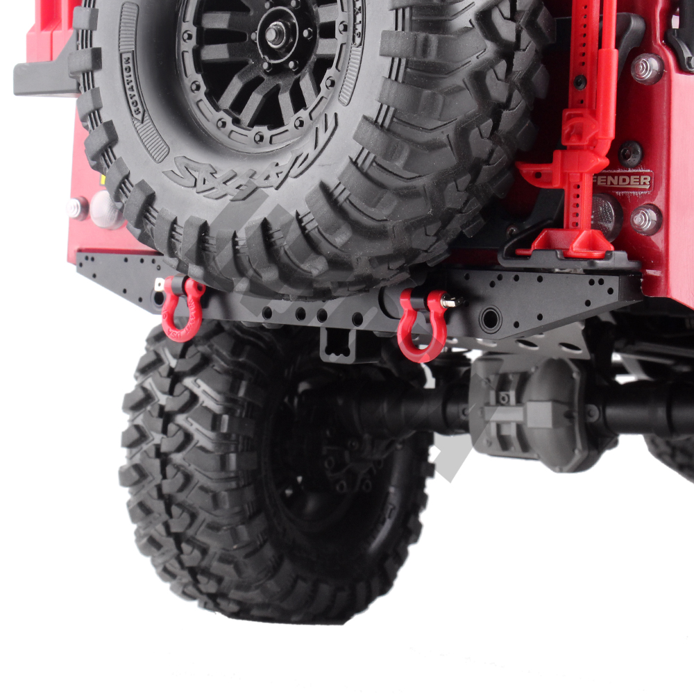 Image 2 - INJORA 1PCS Metal Rear Bumper with D rings for 1/10 RC Car TRAXXAS TRX 4 TRX4 Upgrade PartsParts & Accessories   -