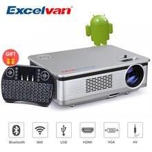 Excelvan HT60 домашний проектор Android 6,0 1080P 3200lm домашний кинотеатр видео игра wifi Bluetooth с бесплатной Bluetooth клавиатурой