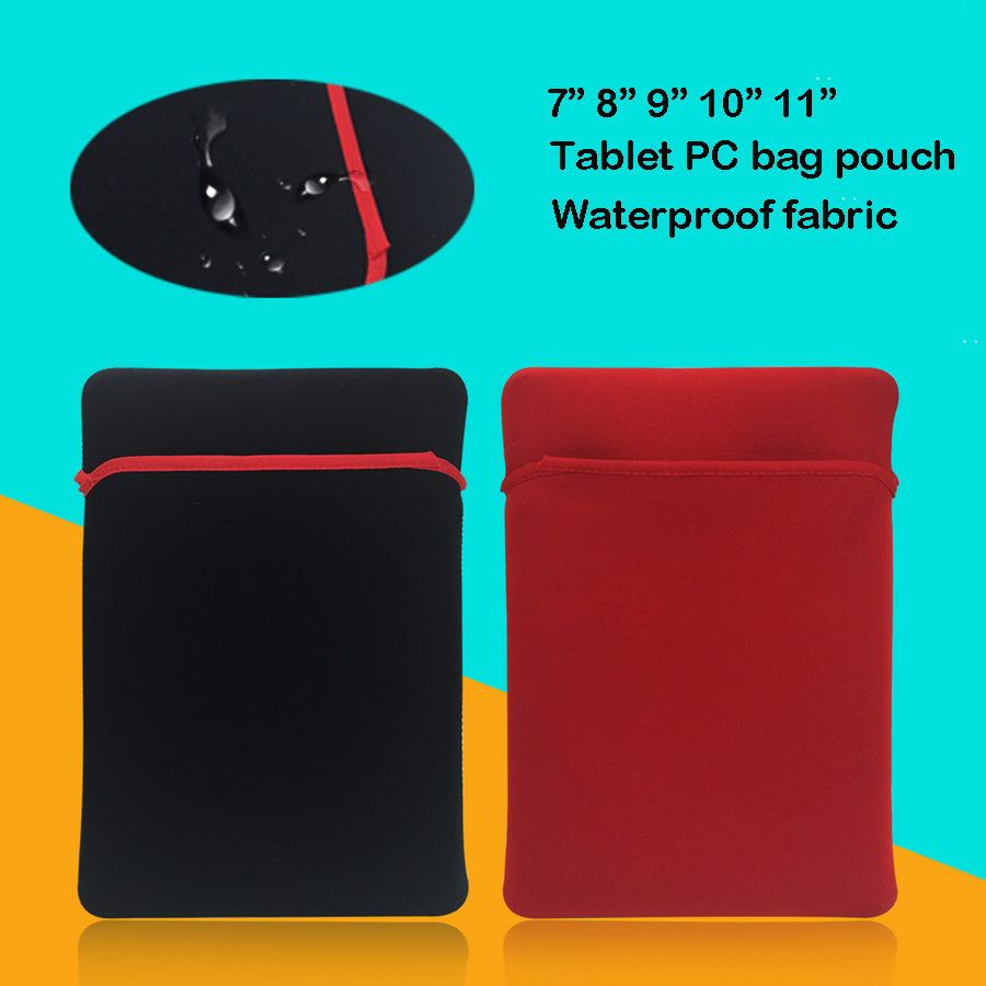 Portable Life waterproof fabric Soft Tablet Sleeve Pouch Bags for iPad Mini Air pro Kindle 6 Xiaomi huawei pad 7 8 9 10