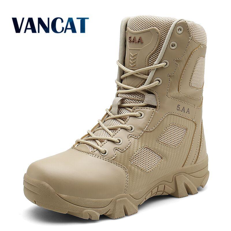 Vancat/Большие размеры 39-47, тактические Мужские ботинки в стиле пустыни, износостойкие армейские ботинки, мужские непромокаемые походные мужс...