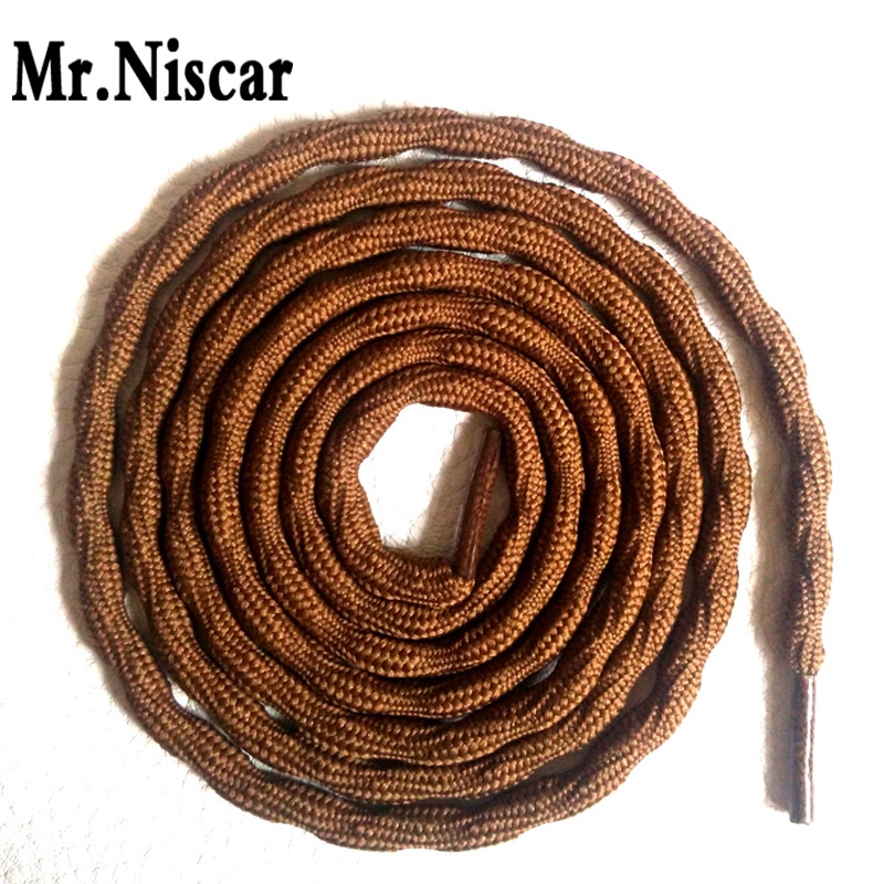 Mr.Niscar 2 Pair Wear-resistant Outdoor Shoe Laces Climbing Shoelace Light Brown Round Hiking Shoelaces for Travel Hiking Shoes round snow ice climbing mountaineering shoes crampons orange pair