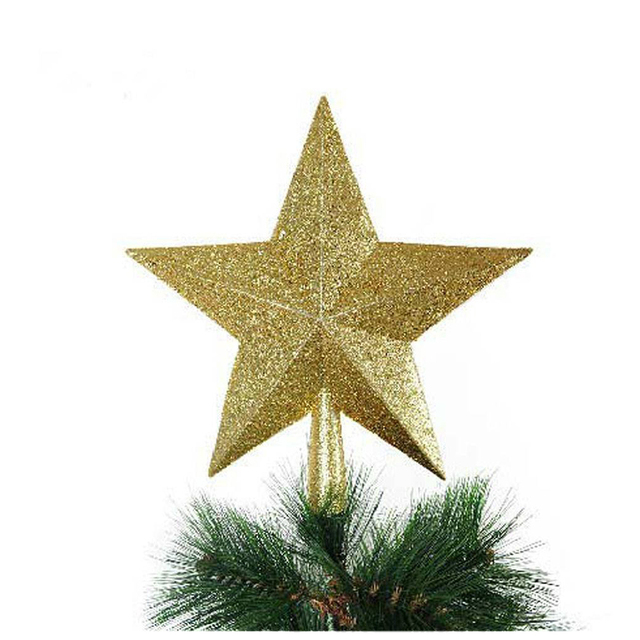 Red/Yellow Christmas Decorations Stars For Home House Table Topper Tree Top Decor Accessories Ornament Xmas Decorative Supplies