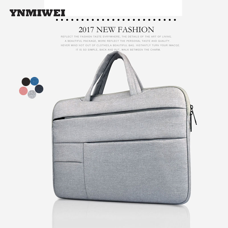 Laptop Bag Case For Macbook Xiaomi Air 13 Notebook Case Sleeve With Handle Universal For 13 14 15 Computer Bag YNMIWEI