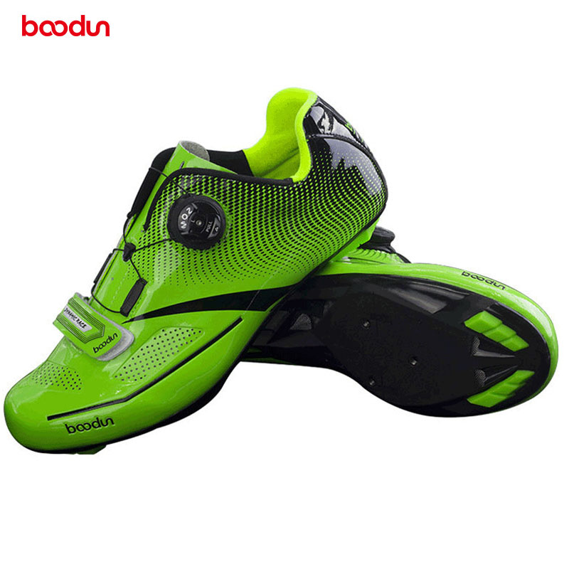 Boodun Breathable Professional Self-Locking R Cycling Shoes MTB Bicycle Shoes Non-Slip Bike Racing Shoes