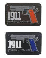 1911 Vintage Firepower 3D PVC Patch Military Tactical Morale Gun Rubber Biker Hook Back Patches For Clothing Backpack Caps