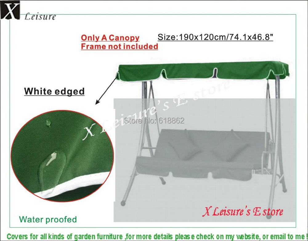 Outdoor swing chair hammock canopy roof replacement dark green 190x120cm 74 8 x47