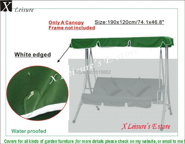 swing chair replacement gym twister outdoor hammock canopy roof dark green 190x120cm 74 8