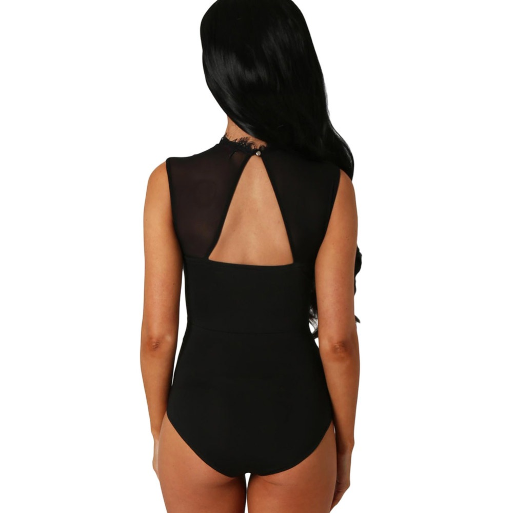 890e755398f1 FGirl Bodysuits Women Romper Lace High Neck Cut Out Back Bodysuit Sexy Lace  Women Bodysuit Top FG21696-in Bodysuits from Women s Clothing on  Aliexpress.com ...