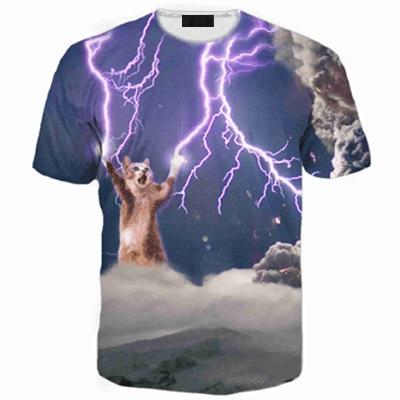 Popular cat lightning buy cheap cat lightning lots from for Trade t shirt printing