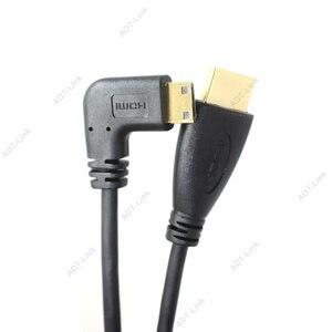 Image 5 - HDMI to Right & Left Angle Mini HDMI & HDMI & Micro HDMI male to male stretch Spring Curl Flexible Cable V1.4 DSLR 0.5M/1.5M