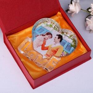 Image 5 - 개인화 된 사용자 정의 크리스탈 유리 심장 빙산 사진 액자 엄마 아내를위한 최고의 선물 생일 결혼 기념일 기념품