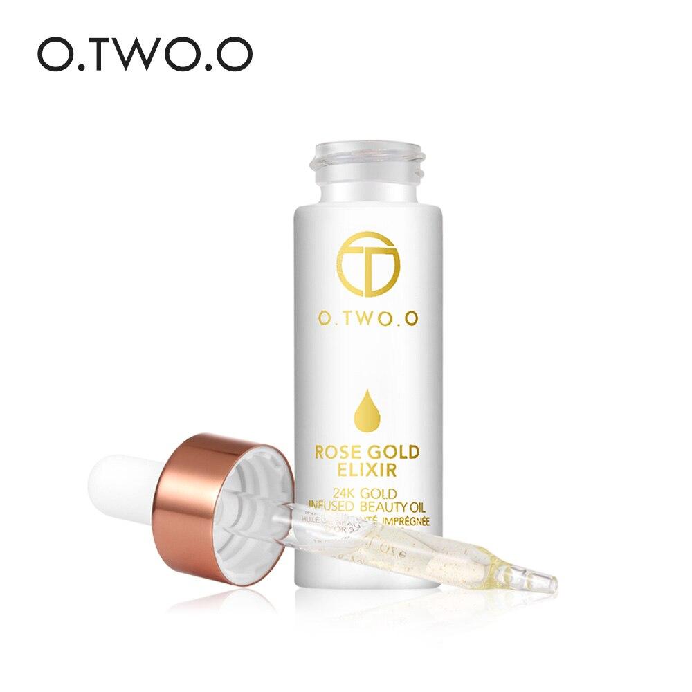 O. DEUX. O 24 k Rose Or Elixir Peau Maquillage Huile Pour Le Visage Huile Essentielle Hydratant Lisse Base de maquillage Avant Fondations Amorce