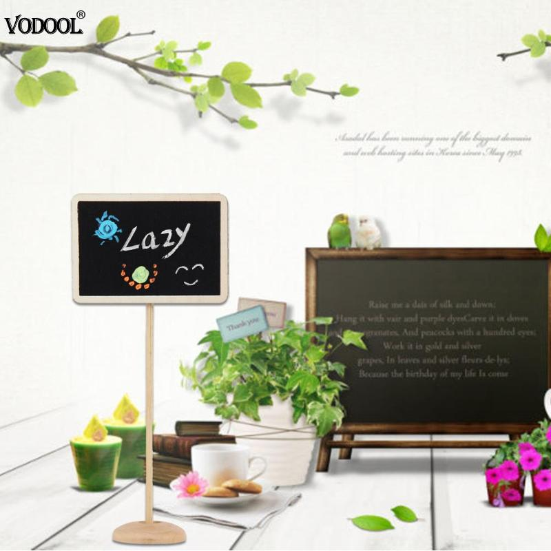 10pcs Mini Retangle Chalkboard Blackboard Stand Place Holder Wedding Event Party Decorations Lolly Party Tag(Square)