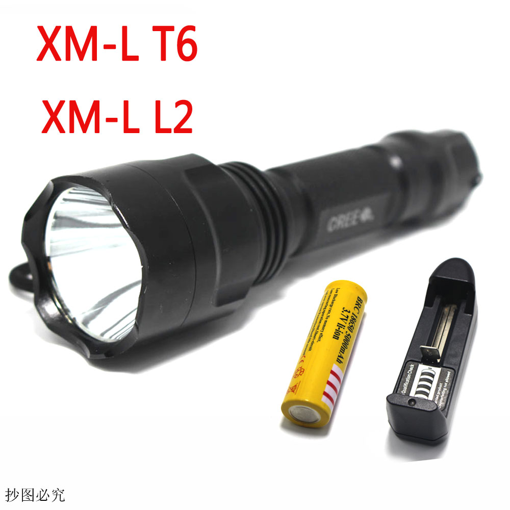 3800 lumens Super Bright C8 Cree XM-L T6 L2 5-Mode Camping Led Flashlight Lamp Hunting Torch Ligh (1*18650) 20000 lumens led super bright flashlight 9x cree xm l t6 9t6 camouflage outdoor torches for camping hiking 4pcs 6000mah 18650
