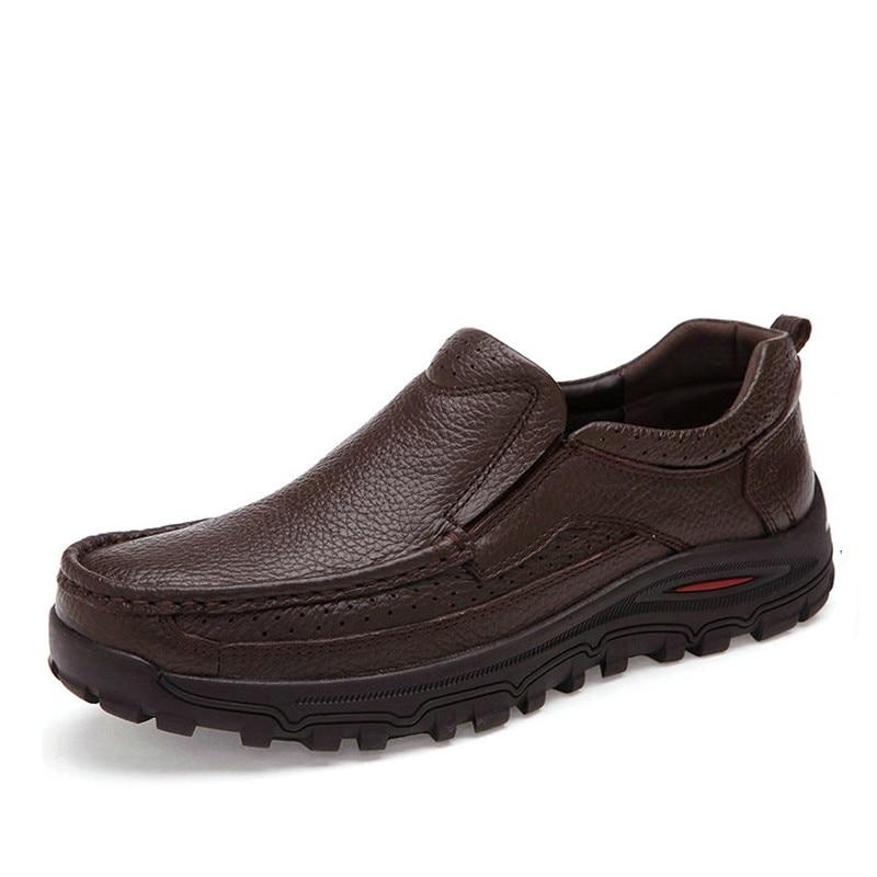 Herrenschuhe Haben Sie Einen Fragenden Verstand 2018 Wohnungen Neue Ankunft Authentische Marke Casual Männer Echtes Leder Loafer Schuhe Plus Größe 38-48 Handmade Mokassins Schuhe Xz-075 Ausgereifte Technologien