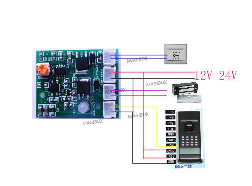цена на Time Adjustable Delay module power module magnetic lock electronic lock delay board for Door access control