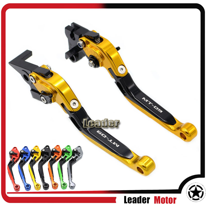 ФОТО For YAMAHA FZ 09 MT 09 MT-09/SR 2014-2015 MT-09 Tracer 2015-2016 Motorcycle Folding Extendable Brake Clutch Levers Gold