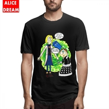 For Man Doctor Who Rick and morty T-shirt Quality Tee Round Neck Free Shipping Fashionable Pickle Tees