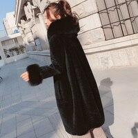 Real Fur Coat Women Sheep Shearing Winter Coat Women Oversize Casual Womens Clothing Abrigos Mujer Invierno 2019 1787 YY608