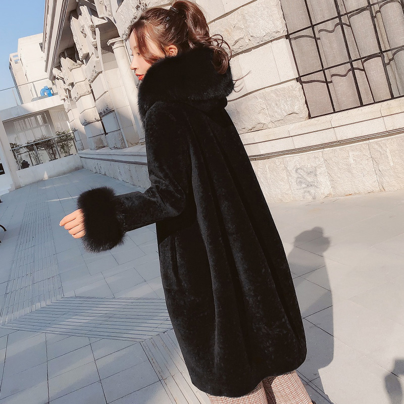 Real Fur Coat Women Sheep Shearing Winter Coat Women Oversize Casual Womens Clothing Abrigos Mujer Invierno 2019 1787 YY608