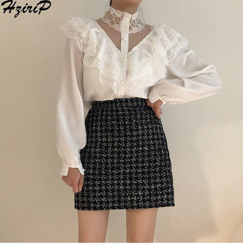 HziriP Women Sweet Shirts 2019 Autumn Spring Pearls Wild Fashion Solid Slim Loose Casual Simple Women Office Lady Tops Sexy