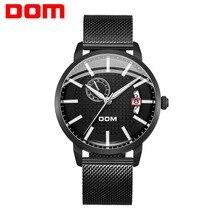 Watch Men DOM brand Mechanical Fashion Design Skeleton Sport Luminous Hands Transparent Mesh Bracelet For Clock M-8111