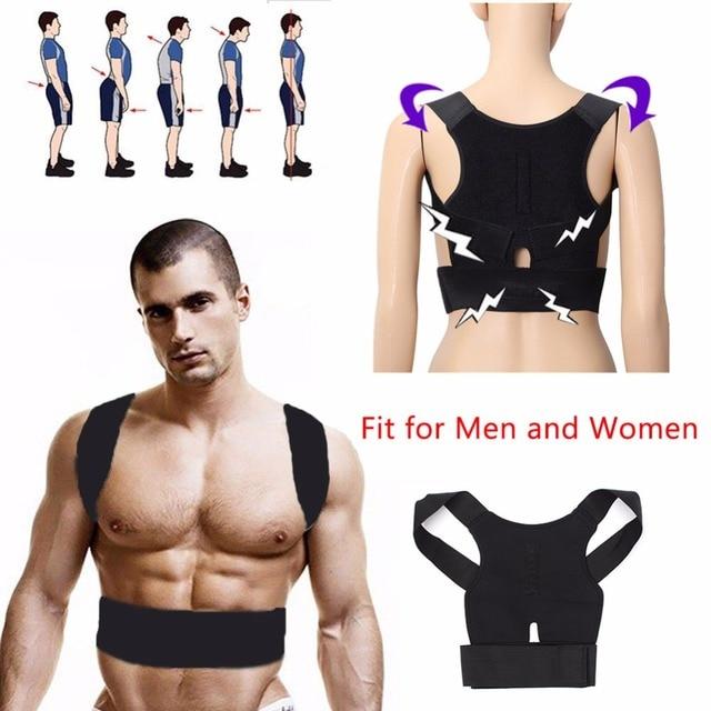 APTOCO 2016 New Men Women Adjustable Magnetic Posture Corrector Belt Braces Support Back Corrector Shoulder Plus Size