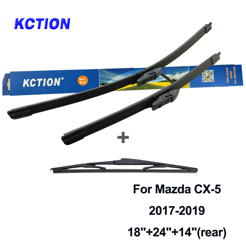 KCTION car windscreen windshield wiper blade rear window wiper rubber for Mazda cx 5 fit hook arms push button arm 2012 2018 in Windscreen Wipers from Automobiles Motorcycles