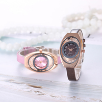 Sloggi fashion Rhinestone dial Women Ladies Quartz   Watch   Casual   Dress     Watch   women Leather Relogio masculino Fashion Reloj Mujer