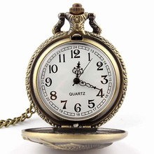 Men's Classic Steampunk Roman Dial Carp Men Pocket Watch with Chain  LXH