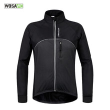Windproof Cycling Jacket Warm Bicycle Clothing Bicycle Jacket Waterproof Soft Coat Men Women Bike Jacket Reflective Logo(China)