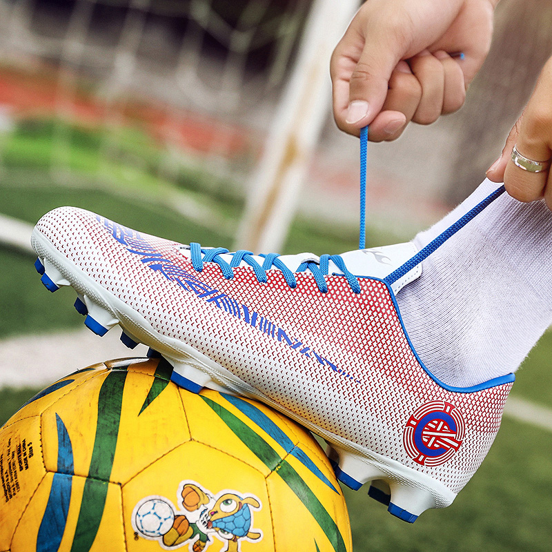 Men Football Shoes Outdoor Soccer Lawns Long Spikes Boots Training Men Soft Sports Training Athlete Sneakers Shoes Turf Futsal|Soccer Shoes| |  - title=